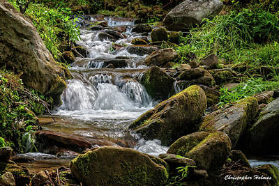 Photograph - Babbling Brook by Christopher Holmes