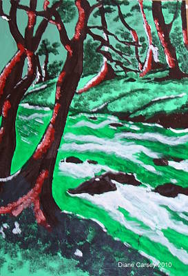 Babbling Brook Painting - Babbling Brook by M  D  Artwork