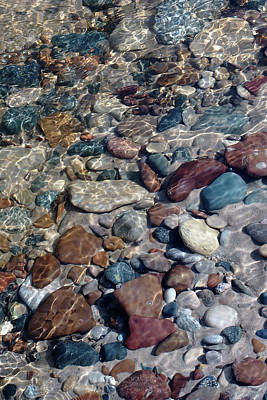 Photograph - Babbling Brook Stones by Kathi Mirto