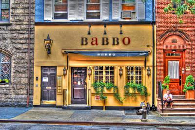 Babbo Restaurant Chef Mario Batali Print by Randy Aveille