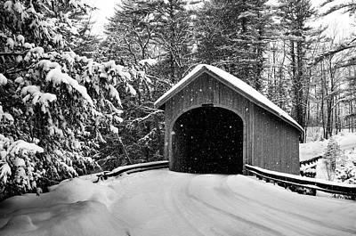 Winter Scene Photograph - Babbs Bridge by Dan Jordan