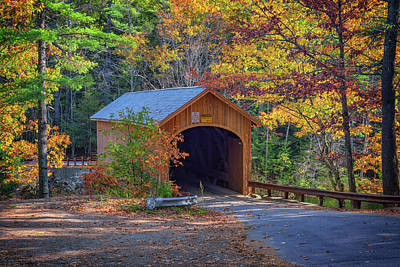 Photograph - Babb's Bridge In Autumn by Rick Berk