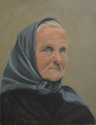 Ellis Island Painting - Babcia At Ellis Island by Sandra Nardone
