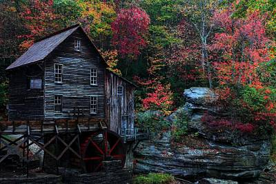 Photograph - Babcock State Park Glades Creek Grist Mill West Virginia  by Carol Montoya