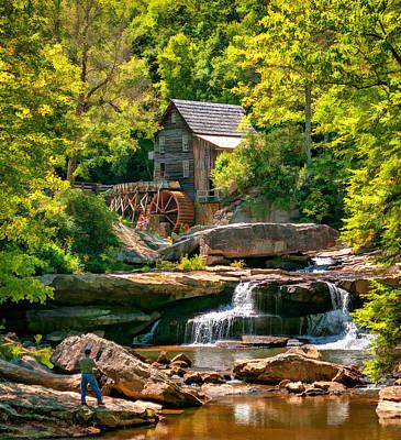 Grist Mill Photograph - Babcock State Park Wv 2 - Paint by Steve Harrington