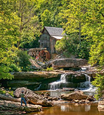 Grist Mill Photograph - Babcock State Park Wv 2 by Steve Harrington