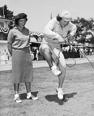 Photograph - Babe Didrikson Antics by Underwood Archives