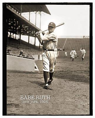 Photograph - Babe Ruth 1924 by Carlos Diaz