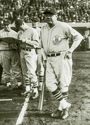 Babe Ruth Vintage Photograph - Babe Ruth All Stars by Jon Neidert