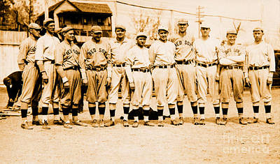 Photograph - Babe Ruth And The Boston Red Sox 1915 by Unknown