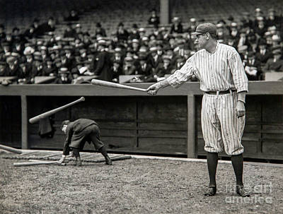 Boston Red Sox Photograph - Babe Ruth At Bat by Jon Neidert