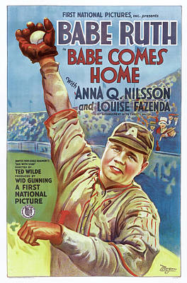 Photograph - Babe Ruth Movie Poster by Rospotte Photography