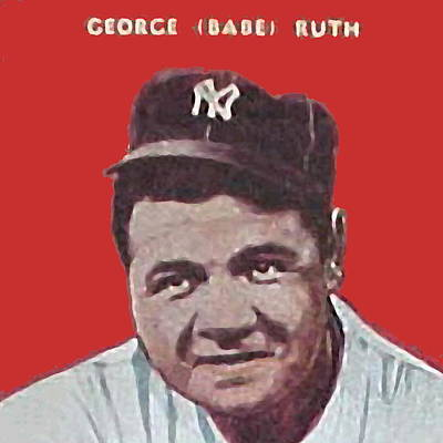 Babe Ruth Drawing - Babe Ruth by Paul Van Scott