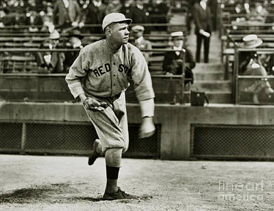 Boston Red Sox Photograph - Babe Ruth Pitching by Jon Neidert