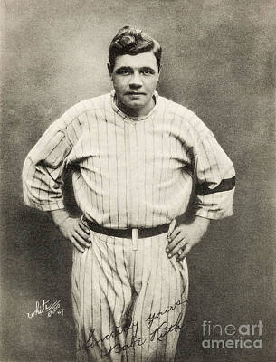Old Pitcher Photograph - Babe Ruth Portrait by Jon Neidert