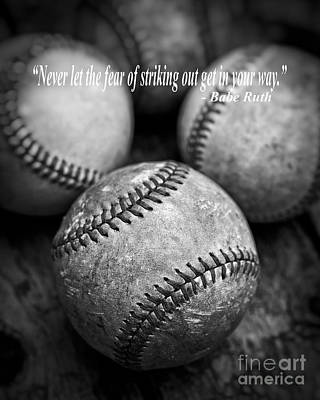 Babe Ruth Quote Print by Edward Fielding