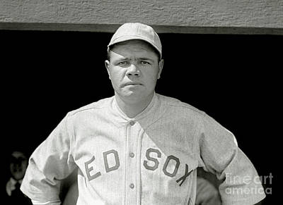 Babes Wall Art - Photograph - Babe Ruth Red Sox by Jon Neidert