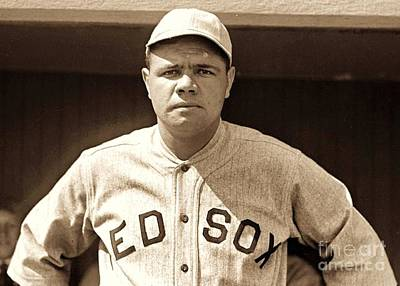 Photograph - Babe Ruth by Roberto Prusso