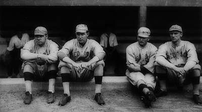Fenway Park Photograph - Babe Ruth With The Red Sox by Mountain Dreams