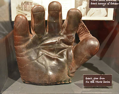 Photograph - Babe Ruth's Glove by Mike Martin