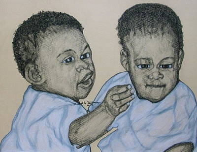 Drawing - Babies by Michelle Gilmore