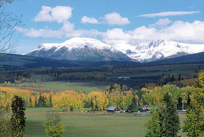 Photograph - Babine Range-fall View by Jan Piet