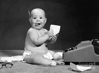 Play Pretend Photograph - Baby Accountant, 1960s by H. Armstrong Roberts/ClassicStock