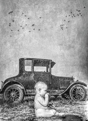 Photograph - Baby And Model T by Garry Gay