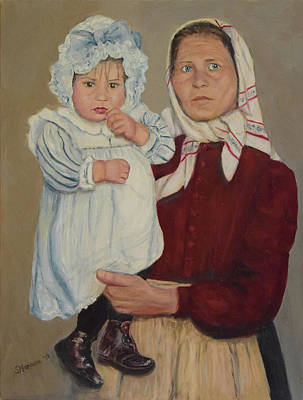 Painting - Baby And Nurse by Sandra Nardone