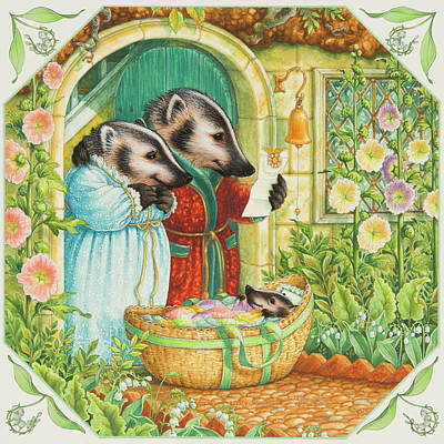 Lily Of The Valley Painting - Baby Badger by Lynn Bywaters