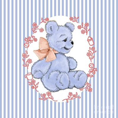 Cuddly Digital Art - Baby Bear by Cindy Garber Iverson