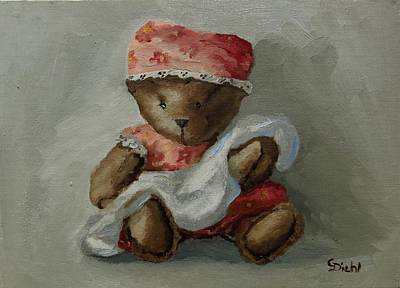 Painting - Baby Bear by Grace Diehl