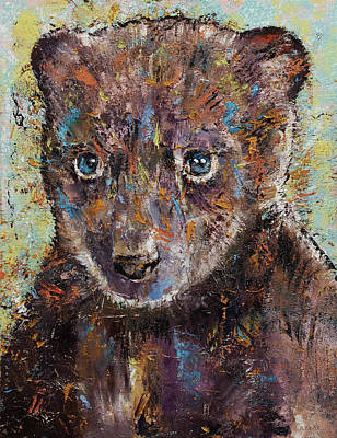 Bear Cub Painting - Baby Bear by Michael Creese