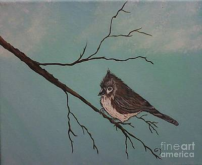 Painting - Baby Bird by Ginny Youngblood