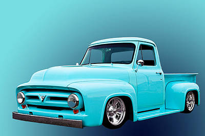 Chev Photograph - Baby Blue 2 by Jim Hatch