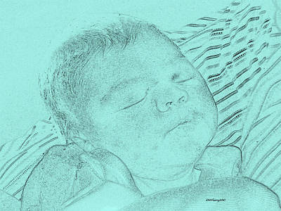 Mixed Media - Baby Blue Bebe Azul by Femina Photo Art By Maggie