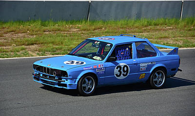 Photograph - Baby Blue Bimmer by Mike Martin