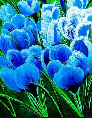 Painting - Baby Blue Crocus by Jennifer Lake