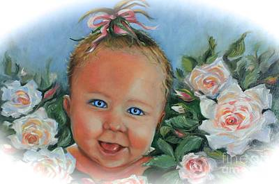Painting - Baby Blue Eyes by Yvonne Ayoub
