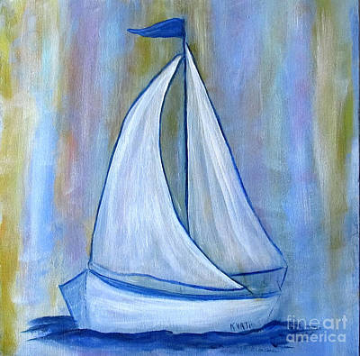 Painting - Baby Blue Nmb by Karen Day-Vath