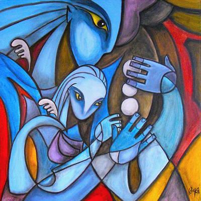 Baby Blue Art Print by Roy Guzman