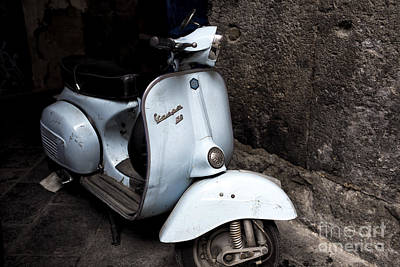 Photograph - Baby Blue Vespa In Naples by John Rizzuto
