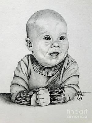 Drawing - Baby Boy by Terri Mills