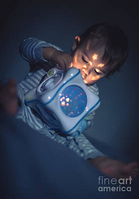 Photograph - Baby Boy With Magical Toy by Anna Om