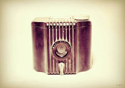 Photograph - Baby Brownie Art Deco Camera In Sepia by Tony Grider