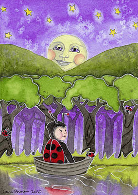 Stary Sky Painting - Baby Bugs And Ladybugs by Cara Brown