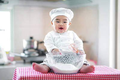 Photograph - Baby Cooking by Anek Suwannaphoom
