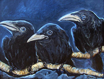 Painting - Baby Crows by Katt Yanda
