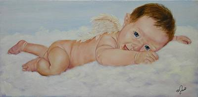 Painting - Baby Cupid by Joni McPherson