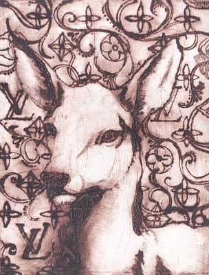 Baby Deer Original by Dina Kalo